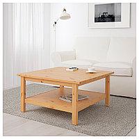 ХЕМНЭС Журнальный стол, светло-коричневый, 90x90 см, фото 1