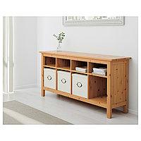 ХЕМНЭС Консольный стол, светло-коричневый, 157x40 см, фото 1