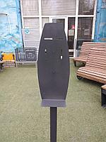 Мобильная стойка для размещения ДОЗАТОРА для антисептика (черная)