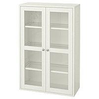 ХАВСТА Шкаф-витрина, белый, 81x35x123 см, фото 1