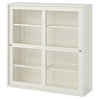 ХАВСТА Шкаф-витрина, белый, 121x35x123 см, фото 1