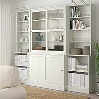 ХАВСТА Комбинация с раздвижными дверьми, белый, 243x47x212 см, фото 1