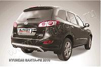 """Защита заднего бампера d57 """"скобка"""" Hyundai Santa Fe 2007-12"""