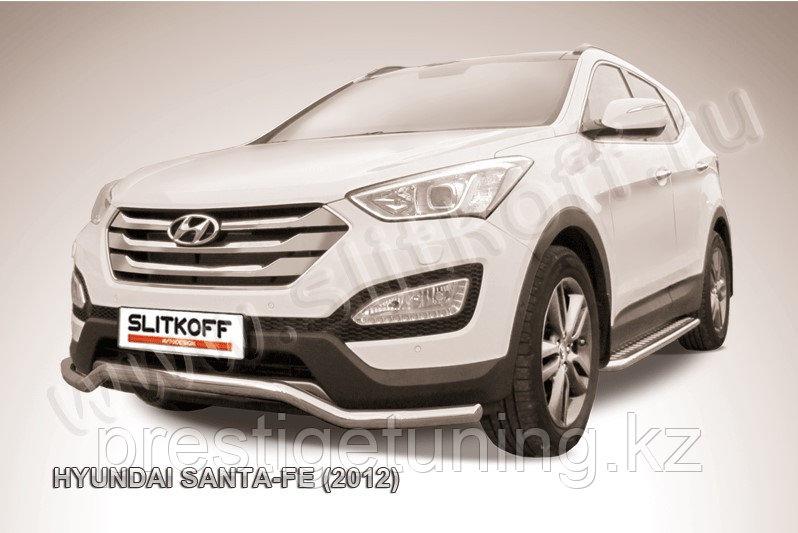 "Защита переднего бампера d57 ""волна"" Hyundai Santa Fe 2013-17"