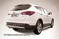 Защита заднего бампера d57 длинная Hyundai Santa Fe 2013-17