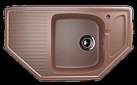 Мойка кухонная угловая ECO Stone 780 х 485 с отверстие под смеситель