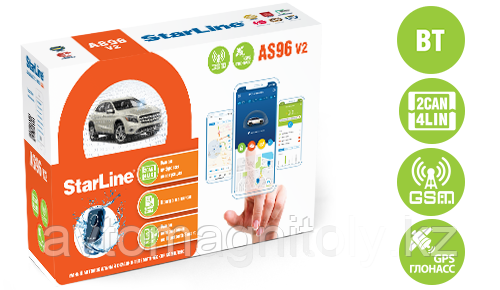Автосигнализация StarLine AS96v2 BT 2CAN+4LIN GSM GPS