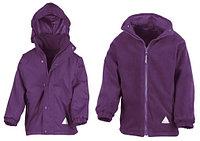 Детская куртка с флисовым утеплителем два в одном фиолетовая