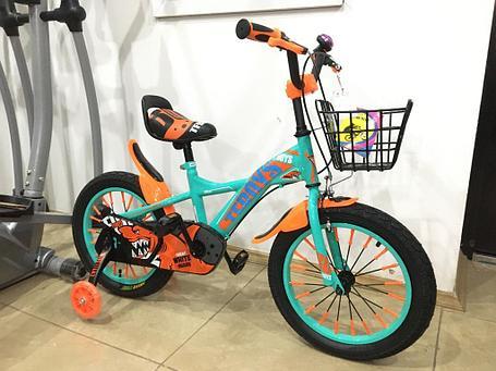 Детский оригинальный велосипед Phillips  с холостым ходом рама 16 (цвет-зеленый), фото 2