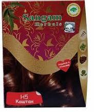 Натуральная краска для волос H5 Каштан, 60 гр, Sangam