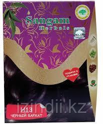 Натуральная краска для волос с травами H13 Черный бархат, 60 гр, Сангам