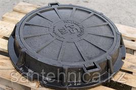 Люк ПП тяжелый 630*760 H=110 мм 25 т. (серый)