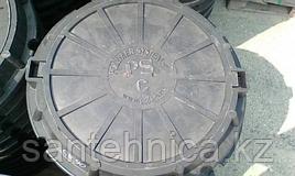 """Люк полимерпесчаный 630/760 тип """"С"""" Н=110 (серый)"""