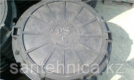 """Люк полимерпесчаный 630/780/50/90 тип """"С"""" В-90 (черный)"""
