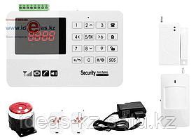 Охранная GSM Сигнализация Security Alarm System /блок сигнализации, сирена, два пульта, объемный датчик