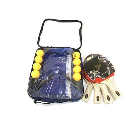 Набор для настольного тенниса на 4 человека с сеткой и мячами, фото 2