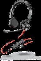 Проводная гарнитура Poly Plantronics Blackwire 3325, BW3325M, Microsoft, USB-C (214017-01)