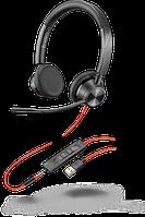 Проводная гарнитура Poly Plantronics Blackwire 3325, BW3325M, Microsoft, USB-A (214016-01)