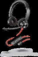 Проводная гарнитура Poly Plantronics Blackwire 3320, BW3320M, Microsoft, USB-C (214013-01)