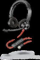 Проводная гарнитура Poly Plantronics Blackwire 3320, BW3320M, Microsoft, USB-A (214012-01)