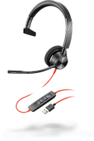 Проводная гарнитура Poly Plantronics Blackwire 3310, BW3310M, Microsoft, USB-A (212703-01)