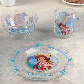 """Набор посуды детский """"Энчантималс. Лисёнок"""", 3 предмета"""