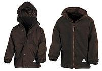 Детская куртка с флисовым утеплителем два в одном коричневая