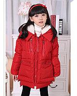 Детский пуховик красный, фото 1