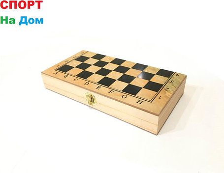 Деревянные шахматы 3в1 (размеры: 30*30*2,5 см), фото 2