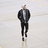 Пуховая куртка с трикотажными рукавами BUTZ черный