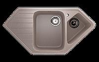 Мойка кухонная угловая ECO Stone 970 х 500 двухсекционная с отверстие под смеситель