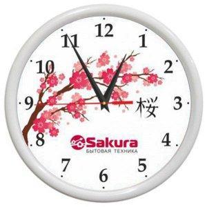 Часы настен Sakura Б7 белый