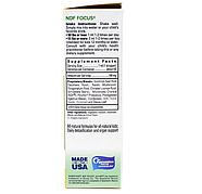 Bioray, NDF Focus, повышение внимания и удаление токсинов, для детей, с цитрусовым вкусом, 60 мл (2 жидких унц, фото 2