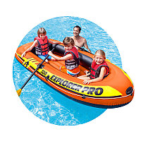 Лодка надувная двухместная 244х117 см Intex 58358