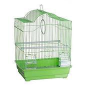 Клетка №1 для птиц фигурная, укомплектованная - 30х23х39 см