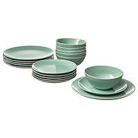 Сервиз 18 предметов ФЭРГРИК каменная керамика, светло-зеленый IKEA, ИКЕА, фото 1