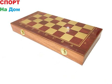 Нарды, шашки, шахматы набор 3 в 1 (размеры: 40*40*2,5 см), фото 2