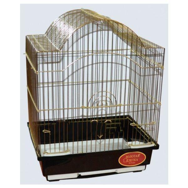 Клетка для птиц №1, укомплектованная (Золото) - 30х23х39 см