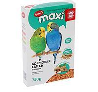 Корм Ешка MAXI для волнистых попугаев, с орехами - 750 г