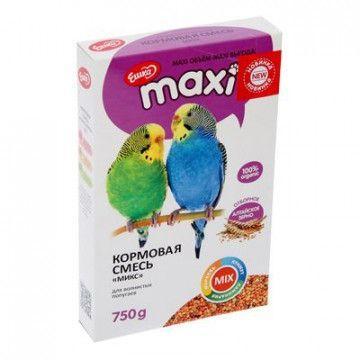 Корм Ешка Микс MAXI для волнистых попугаев - 750 г