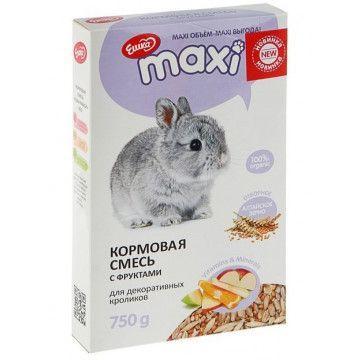 Кормовая смесь Ешка MAXI для декоративных кроликов, с фруктами - 750 г