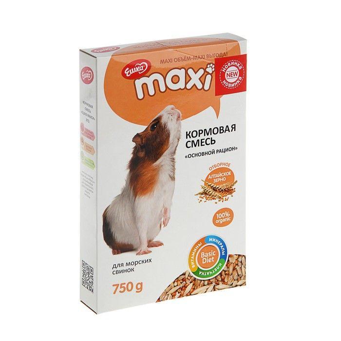 Кормовая смесь Ешка MAXI для морских свинок, с фруктами - 750 г