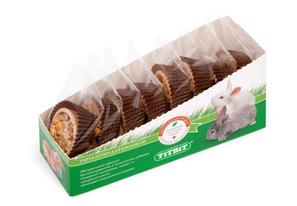 Тарталетки TitBit для кроликов (Яблоко/манго) - 1 шт