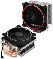 PCcooler GI-UX4R, красный, 4-пин, 115X/775/AM4-FM2, 26.5дБ, 1000-1800 об/мин, Al+тепл.трубки, 145W