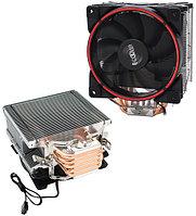 PCcooler GI-X5R, красный, 4-пин, 115X/775/AM4-FM2, 26.5дБ, 1000-1800 об/мин, Al+тепл.трубки, 160W