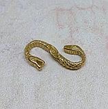 Застёжка для плетеного шнура, 27х14х3мм, фото 2