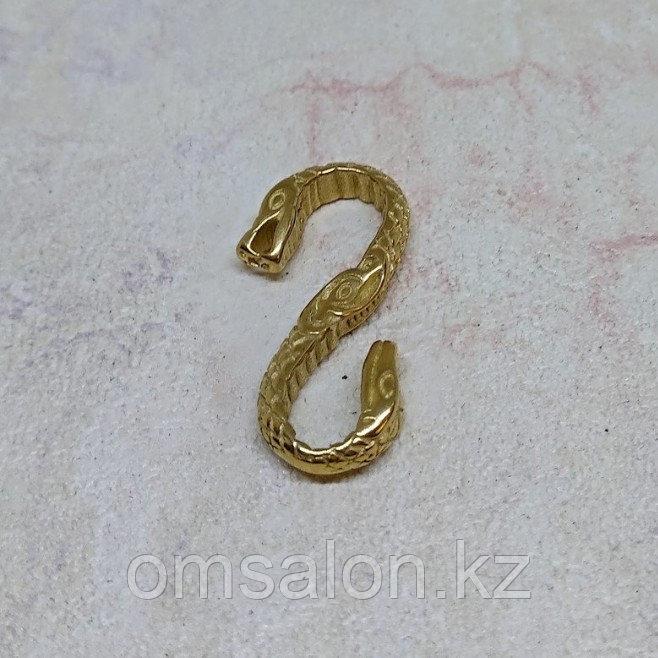Застёжка для плетеного шнура, 27х14х3мм