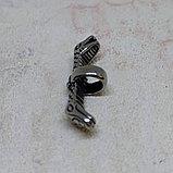 Застёжка для плетеного шнура/декоративный элемент, 30х8х4мм, фото 3