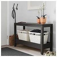 ХАВСТА Консольный стол, темно-коричневый, 100x35x63 см, фото 1