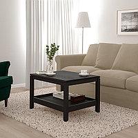 ХАВСТА Журнальный стол, темно-коричневый, 75x60 см, фото 1